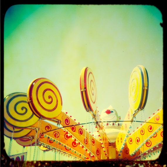 ON SALE Carnival photography nursery art nursery print circus candy cane  film photograph  wall art by bomobob Lollypop 20x20