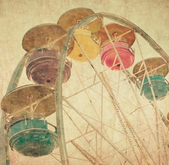 Fall fair season sepia tones vintage rides state fair