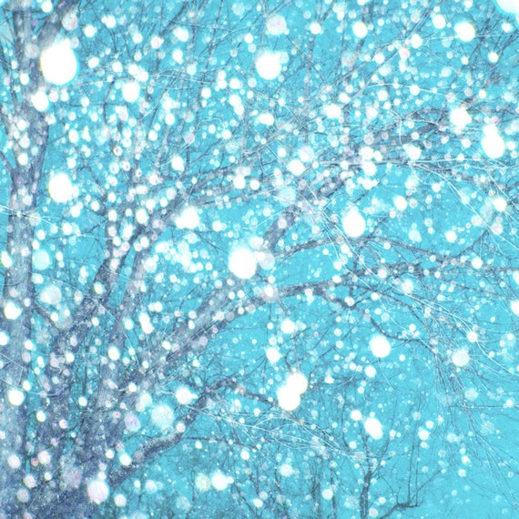 Clearance winter snow home decor wall decor pale blue by for Clearance home decor