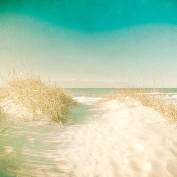 Ocean photography deep blue sea rustic seascape sun worship sand dune getaway coastal nautical carolinas - Threshold 8x8
