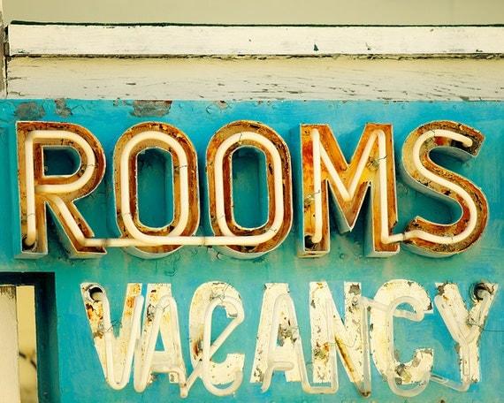Vintage photography, housewarming gift, vintage neon sign, vintage sign photo, sign photograph, wall art, summer photography, old motel sign