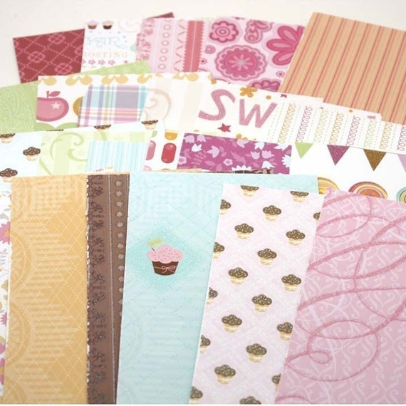 The Sweet Stack DCWV Pink Cupcakes Scrap Paper Pack