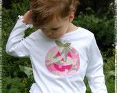 Pink Camo JackOLantern Halloween Tshirt size 5