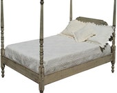 Queen Cottage Chic Four Poster Bed Handmade to Order