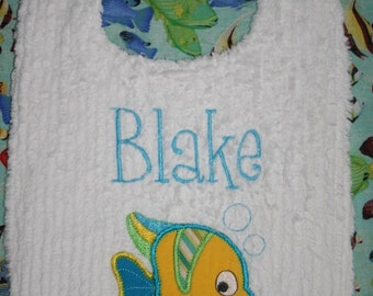 Tropical Fish Toddler Bib