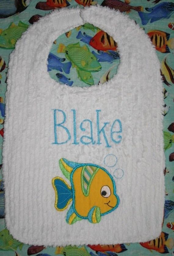 Tropical Fish Toddler Bib