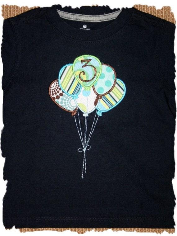 Birthday Balloons Custom Tee Boy or girl