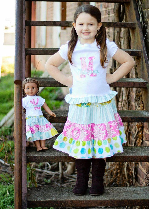 Custom Girl and AG Doll Coordinating Tees ONLY