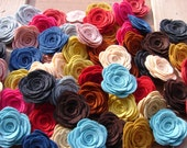 Wool Felt Flowers - LARGE Posies - Set of 20 - You Pick Your Colors