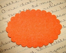 Wool Felt Die Cut Scalloped Large Oval Set of 20