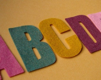 "Wool Felt Alphabet Die Cut Set 2"" tall - Great for Learning"