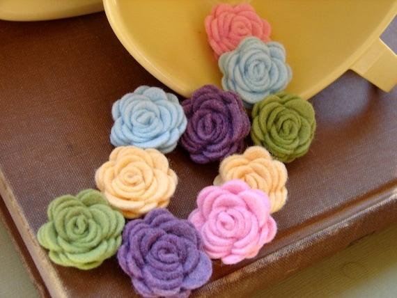 Wool Felt Flowers - Mini Spring Time Posies - The Original Wool Felt Posies