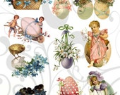 Old Cutz Easter Egg Collage Sheet 4ec Single PNG Images and JPEG Sheet