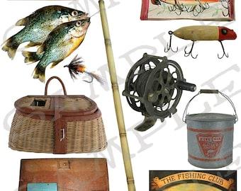 Fishing Collage Sheet