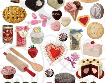 Yummy Treats and Food Items Collage Sheet 1ytc