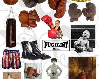 Boxing Stuff  Collage Sheet You will Get a Jpeg Sheet as Well as Individual Png Images