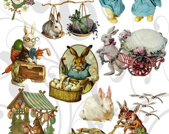 Olde Cutz Easter Rabbit Collage Sheet 2ocerc