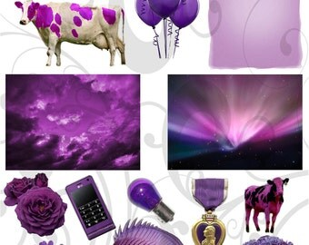 All Thingz Purple Collage Sheet PNG Sheet