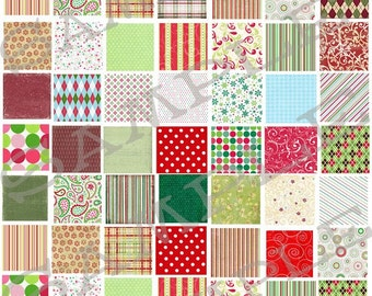 Christmas Inchies Collage Sheet 1ci