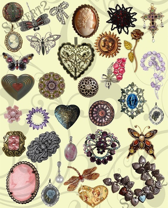 items similar to collage sheet jewelry 11 on etsy