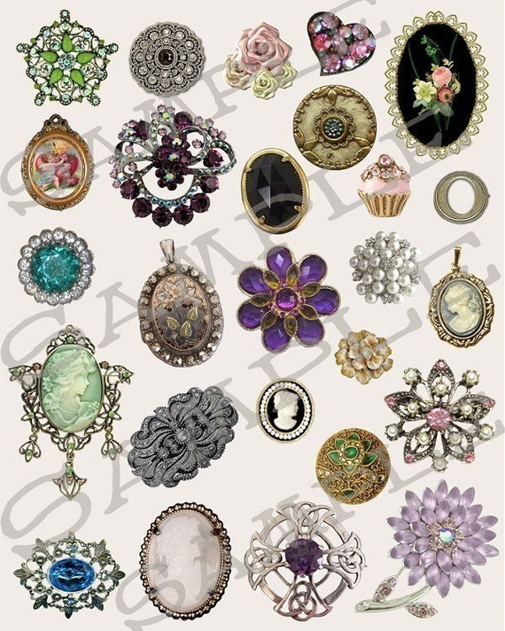 jewelry collage sheet 119j you will get a jpeg sheet and