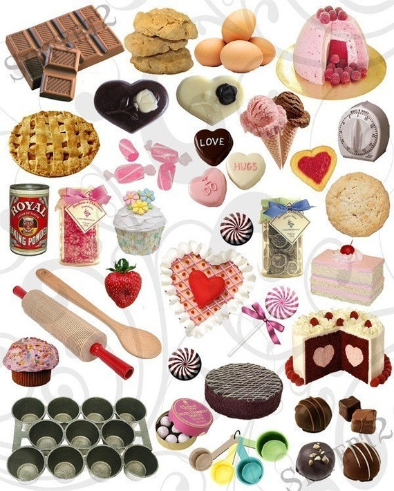 Yummy Treats and Food Items Collage Sheet 1ytc from siefert2 on Etsy Studio
