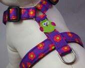 Dog Harness - Purple Posies