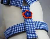 Dog Harness - Blue Gingham