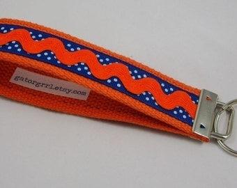 Key Fob Wristlet - Orange Ric Rac
