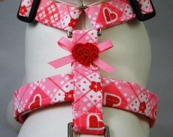 Dog Harness - Be My Valentine