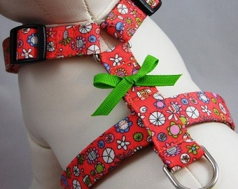 Dog Harness - Coral Floral