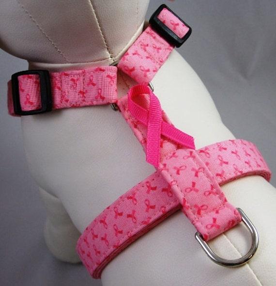 Dog Harness - Pink Breast Cancer Awareness Ribbon