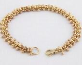 vertebrae bracelet (14K yellow gold, handmade linked bracelet)