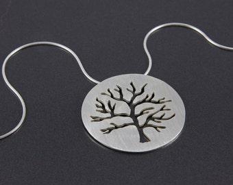 flat crabapple pendant