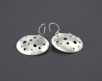 large moon dangle earrings