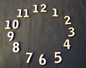 Wood Clock Numbers Set  5 Inch Laser Cut