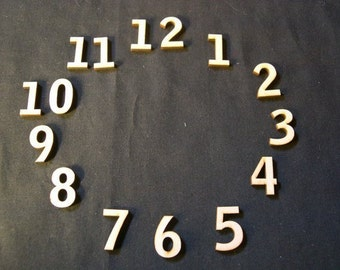 Wood Clock Numbers Set  1 Inch Laser Cut