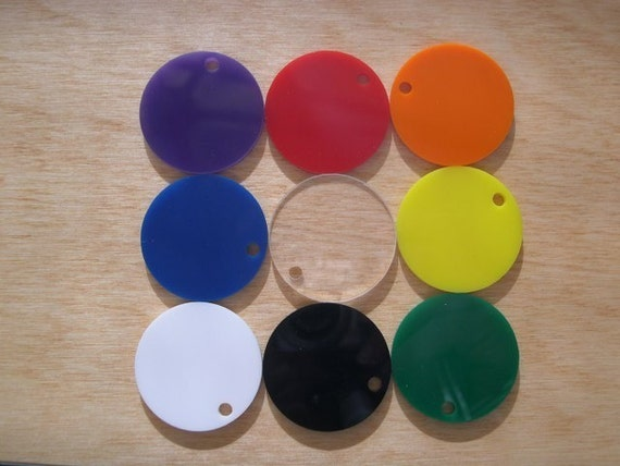 Items Similar To Acrylic Key Chain Blanks Circles 1 Inch