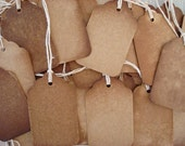 50 small ViNTaGe INSPiReD Hang Tags BLANK Stained and Baked YUMMY