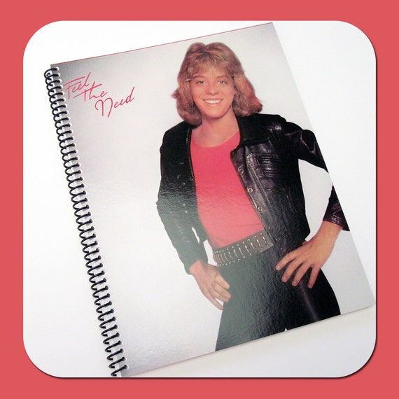 LEIF GARRETT - Recycled Vintage Record Album Cover Notebook Spiral Bound Nature Saver Journal