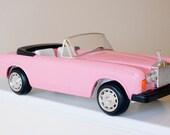 VINTAGE ROLLS Royce Pink Zima Barbie Convertible Toy Car RESERVED until July 1