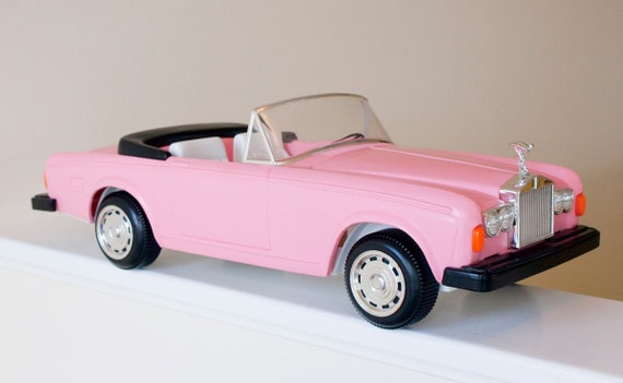 VINTAGE ROLLS Royce Pink Zima Barbie Convertible Toy Car RESERVED until July 1