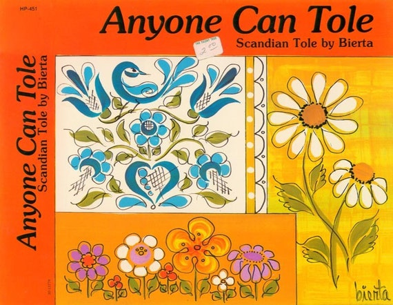 Vintage 70s anyone can tole craft paint book for Anyone can craft