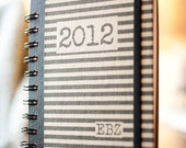 Custom Notebook 2012 Initials Journal, Handmade Paper Goods by Zany on Etsy