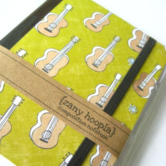 Notebook Altered Mini Composition Guitars, Handmade Paper Goods by Zany on Etsy