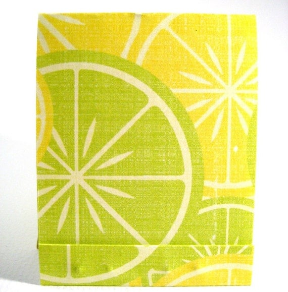 FREE U.S. SHIPPING Five Matchbook Notepads - Lemons and Limes