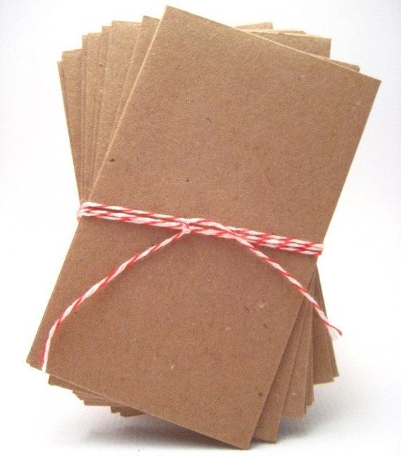 10 Kraft Business Card Envelopes