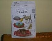 McCalls craft  pattern for dog bed or bog coat number 3071  UNCUT  PIF multiple sizes