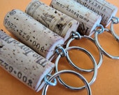 Set of 25 Cork Keychains Great for wedding or shower favors
