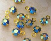 Swarovski Sapphire AB Round  Drops/Charms - 24